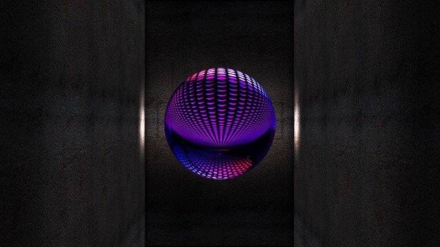 Ball, Wall, Shaft, Structure, Light, Graphic, Space