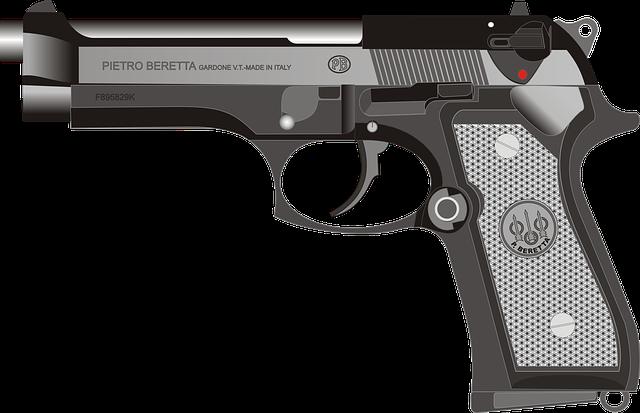 Beretta, Pistol, Gun, Handgun, Weapon, Firearm, Graphic