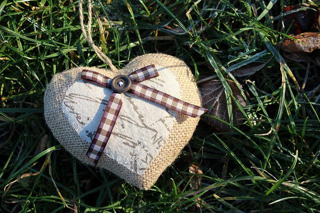 Heart, Grass, Symbol, Valentine's Day, Nature