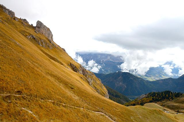 Dolomites, Mountains, Sky, Grass, Rock, Hiking, Holiday