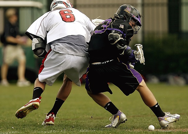Lacrosse, Competition, Collision, Grass, Field