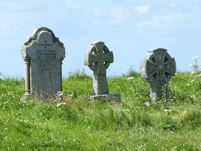 Grave, Stone, Cemetery, Grass, Tombstone, Old, Sky