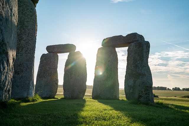 Stonehenge, Megalith, Monument, Outdoors, Grass, Stone