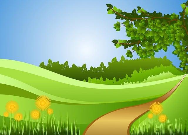 Road, Field, Summer, Design, Trees, Leaves, Grass