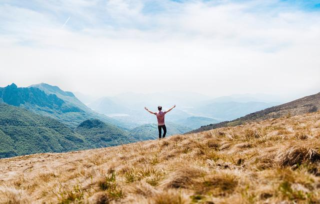 Adventure, Clouds, Grass, Grassland, Landscape, Man
