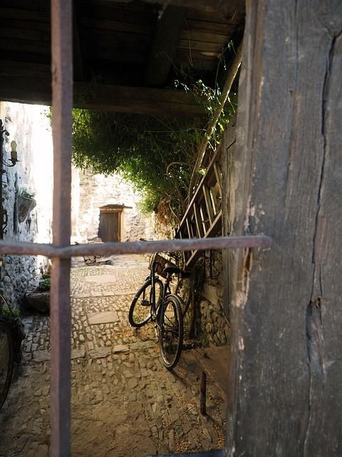 Window, Grating, Bicycle, Ladder, Old House