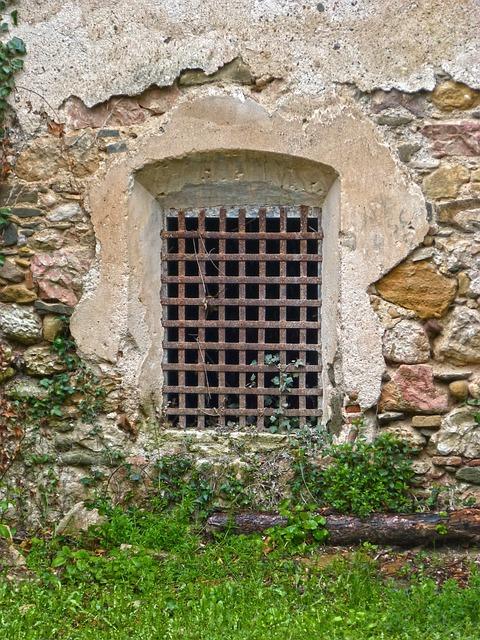 Window, Grating, Old