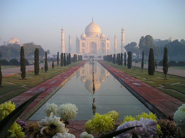 Taj Mahal, India, Agra, Temple, Tomb, Grave, Sunrise