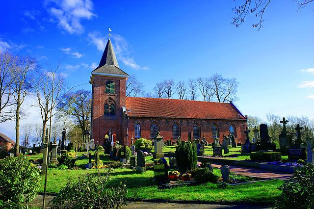 Church, Cemetery, Crosses, Graves, Christianity