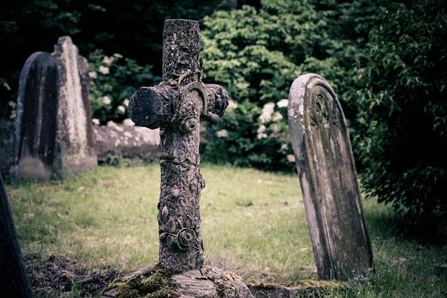 Gravestone, Cross, Church, Churchyard, Cemetery, Burial