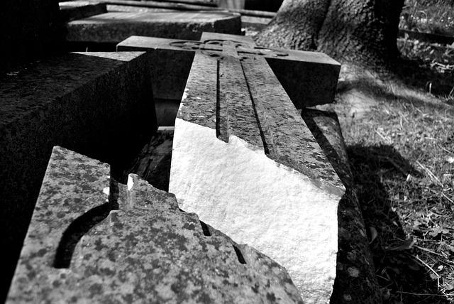 Cemetery, Burial, Graveyard, Tombstone, Broken