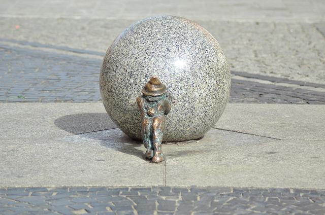 Krasnal, City, Walkway, The Market, Gray, Wrocław
