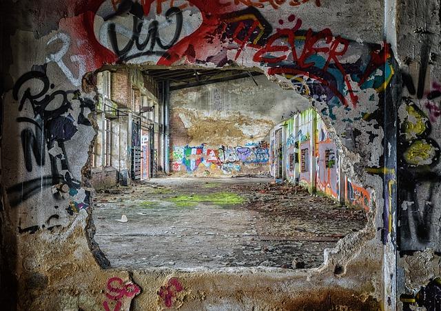 Lost Places, Wall, Pforphoto, Graffiti, Greasy