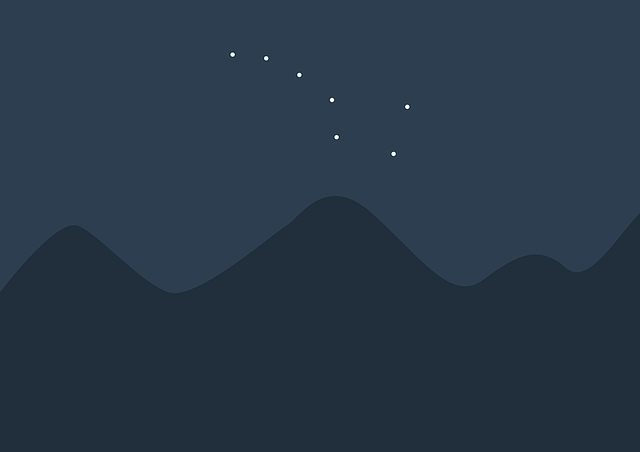 Great Bear, Ursa Major, Sky, Star, Firmament, Mountains