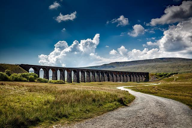 Ribblehead Viaduct, Yorkshire, England, Great Britain