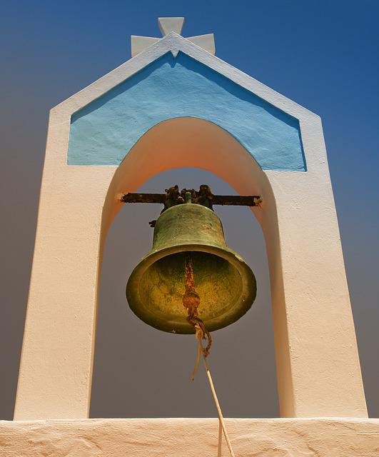 Architecture, Greece, Bell Tower, Karpathos, Sky, Bell