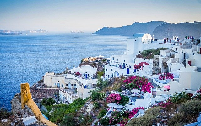 Santorini, Greece, Buildings, Houses, Town, Village