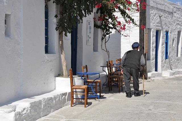 Greece, Cyclades, Sxoinousa, Aegean, Village