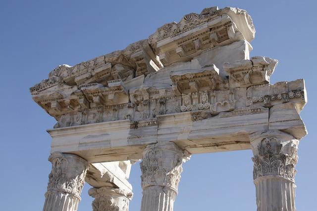 Column Head, Archeology, Ancient, Greek, Architecture