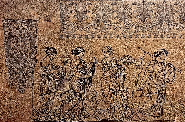 Mural, Antiquity, Personal, Greek, Frescoes, Old