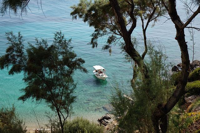 Greece, Greek Island, Sea, Holiday, Blue, View, Sun