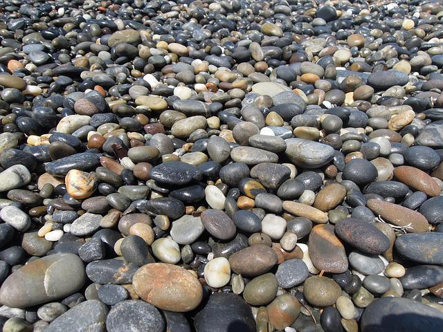 Stone, Rocky, Beach, Beach Stones, Greek, Crete Island
