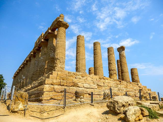 Monument, Greek Temple, Agrigento, Sicily, Italy