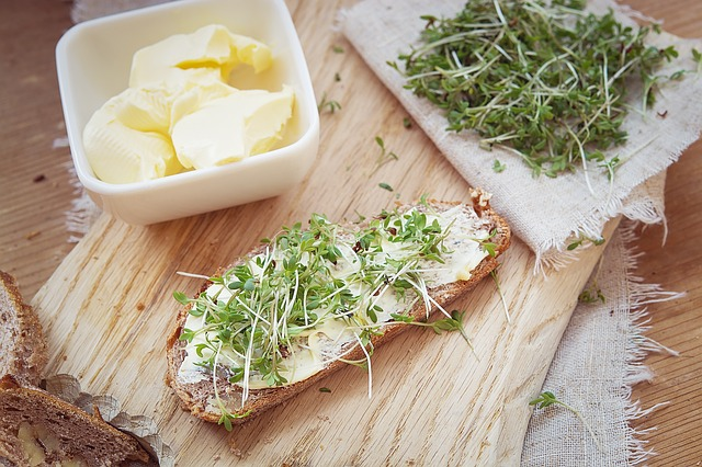 Cress, Green, Cress Bread, Bread And Butter, Bread