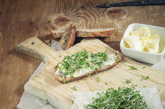 Cress, Food, Green, Bread, Bread And Butter