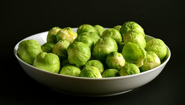 Brussels Sprouts, Green, Round, Raw, Winter Vegetables
