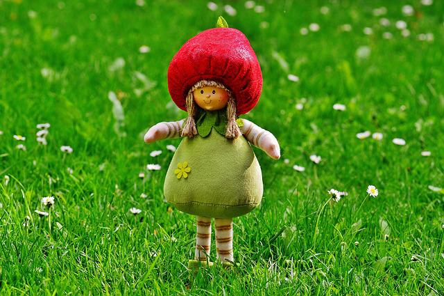 Dwarf, Imp, Sweet, Funny, Fig, Cute, Spring Imp, Green