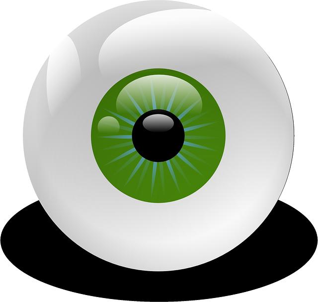 Eyeball, Vision, Retina, Eye, Green, Creepy, Stare