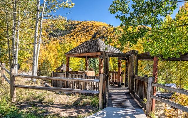 Gazebo, Nature, Fall, Autumn, Green, Park, Grass