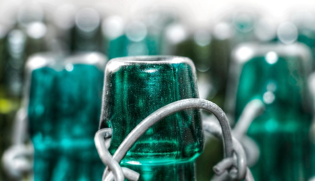 Bottles, Old, Glass, Snap Lock, Empty, Green Glass