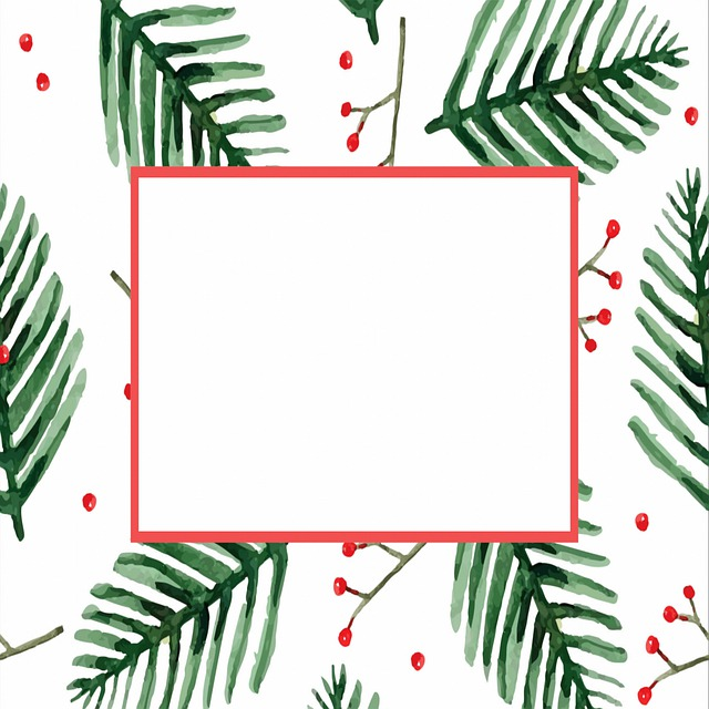 Christmas Background, Digital Paper, Holly, Green Leaf
