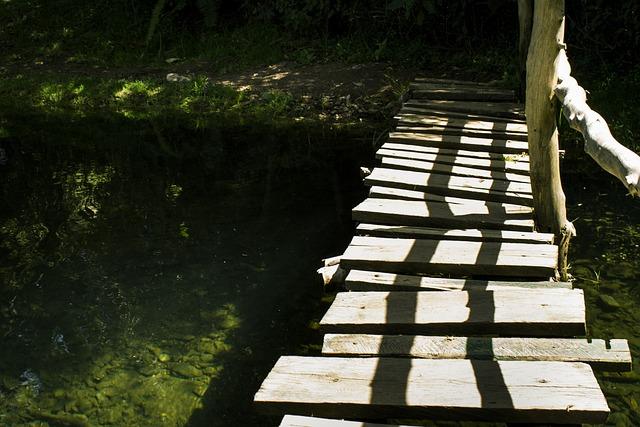 Puente, Lago, Na, Landscape, Nature, Campo, Green