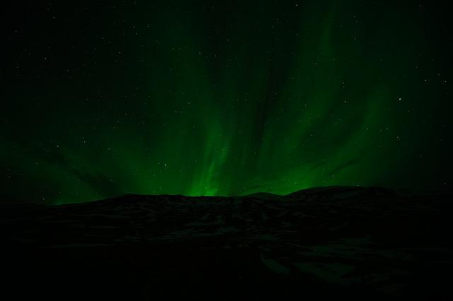Northern Lights, Aurora, Light, Green, Sky