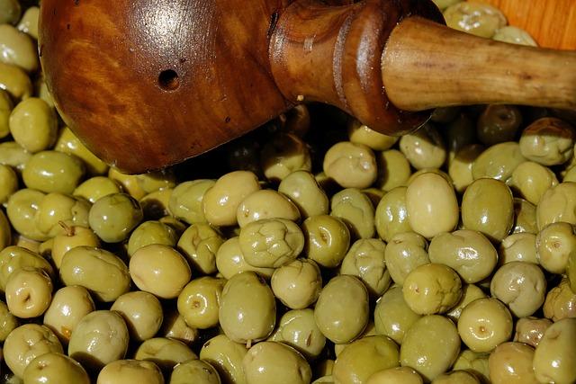 Olives, Green, Green Olives, Drupes, Oil, Mediterranean