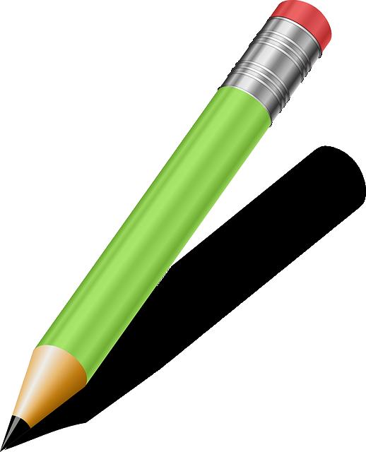 Pencil, Green, Writing Tools, School Supplies