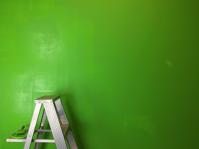 Ladder, Green, Greenscreen, Paint, Green Screen
