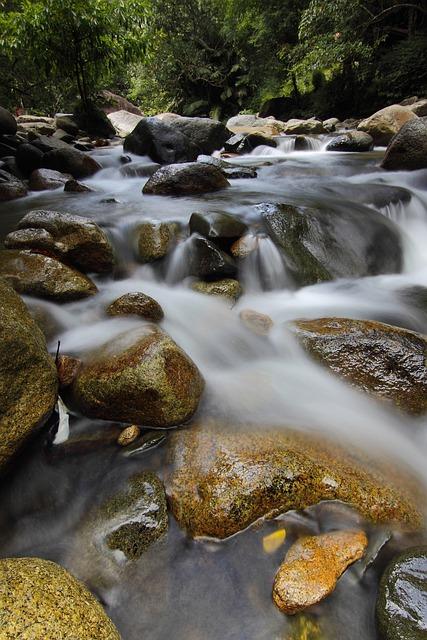 Waterfall, Sekayu, Green, Landscape, Malaysia, Nature