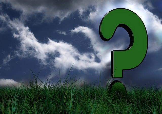 Meadow, Grass, Green, Environment, Sky, Question Mark