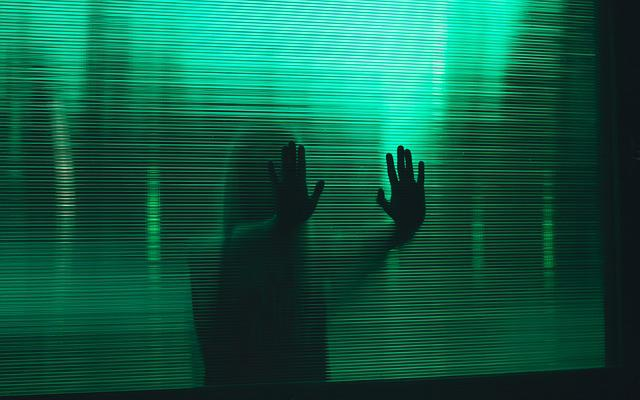 Glass, Hands, Palm, Transparent, Green, Ghost, Stop