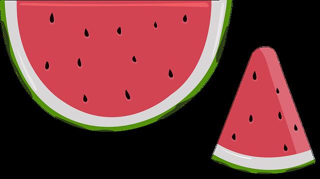 Watermelon, Fruit, Summer, Fresh, Sweet, Slice, Green