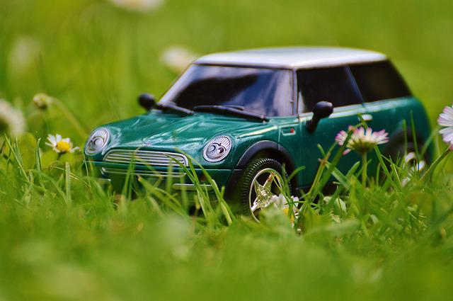 Mini Cooper, Auto, Model, Vehicle, Mini, Green