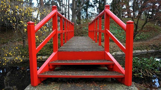 Bridge, Walkway, Wooden, Path, Outdoor, Green, Park