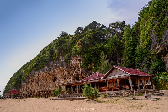 Laut Lampuuk, Aceh, Landscape, Hill, Sky, Greenery