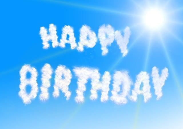 Clouds, Birthday, Sky, Sun, Greeting, Luck, Bill