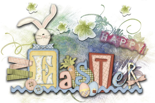 Easter, Greeting Card, Digital Creation, Bunny, Letters