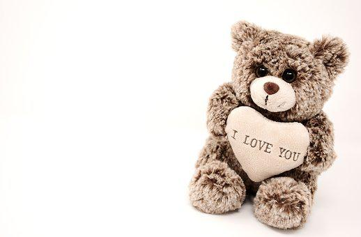 Teddy, Love, Valentine's Day, Greeting Card, Soft Toy